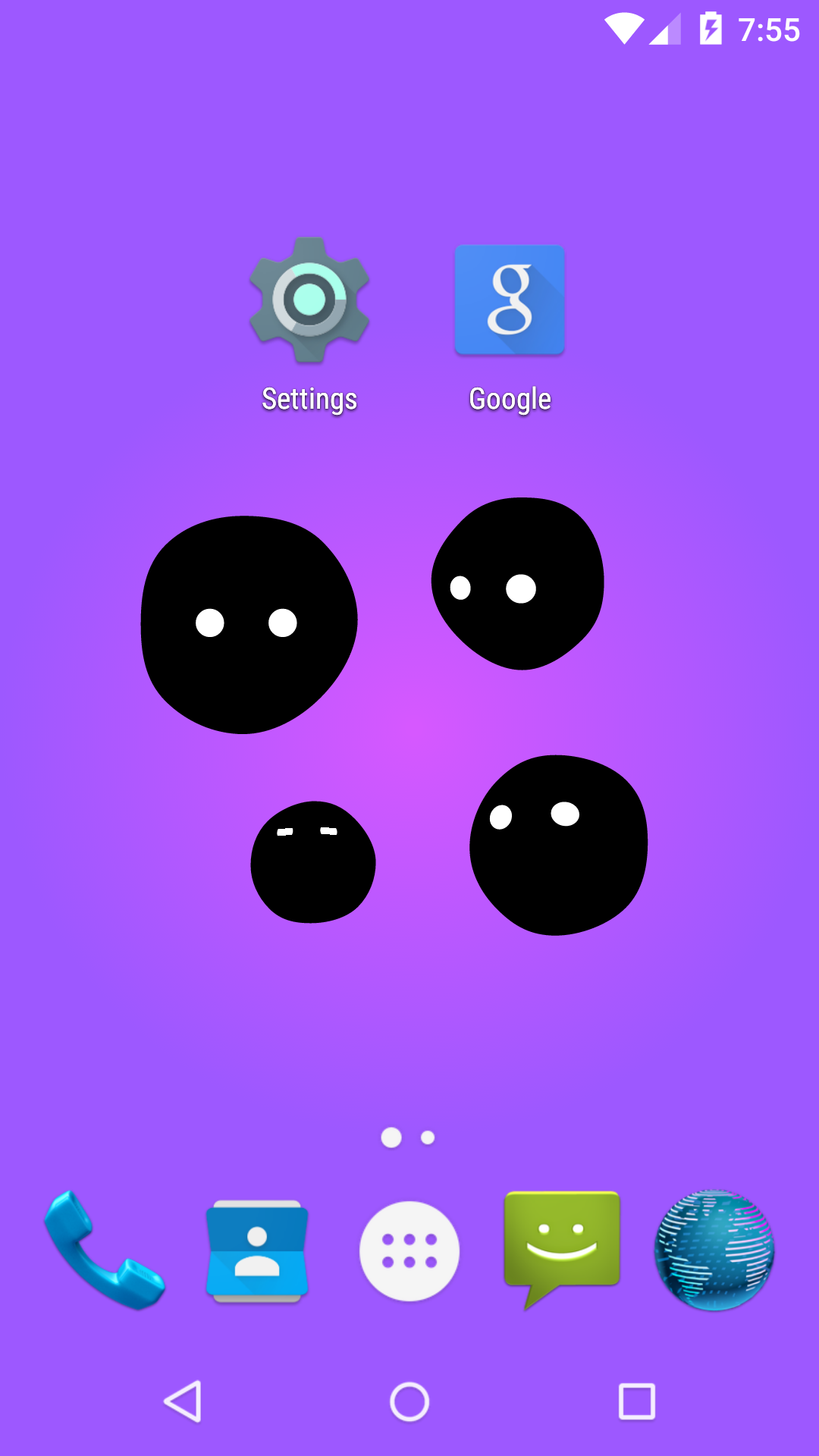 scared creatures live wallpaper